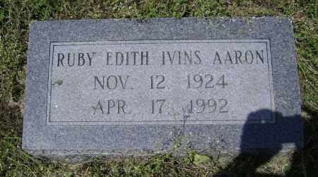 AARON, RUBY EDITH - Lawrence County, Arkansas | RUBY EDITH AARON - Arkansas Gravestone Photos