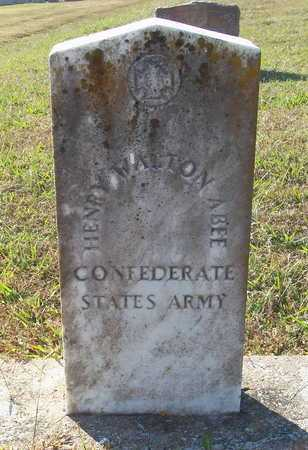 ABEE (VETERAN CSA), HENRY WALTON - Lawrence County, Arkansas | HENRY WALTON ABEE (VETERAN CSA) - Arkansas Gravestone Photos
