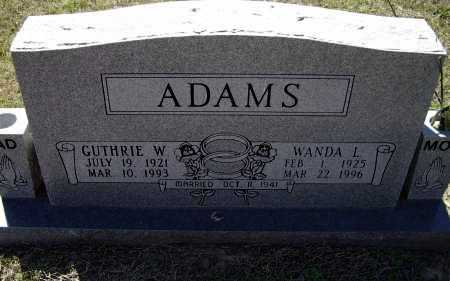 ADAMS, GUTHRIE WYATT - Lawrence County, Arkansas | GUTHRIE WYATT ADAMS - Arkansas Gravestone Photos