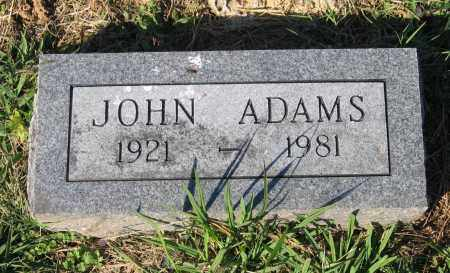 ADAMS, JOHN - Lawrence County, Arkansas | JOHN ADAMS - Arkansas Gravestone Photos