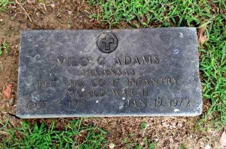 ADAMS (VETERAN WWII), MILO CLAUDE - Lawrence County, Arkansas | MILO CLAUDE ADAMS (VETERAN WWII) - Arkansas Gravestone Photos