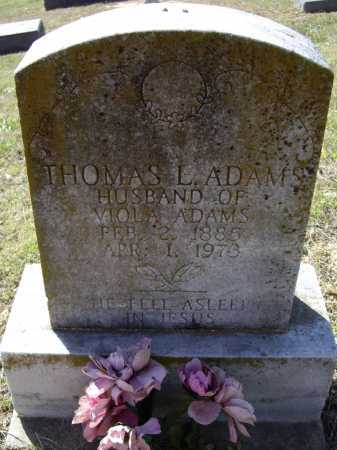 ADAMS, THOMAS L. - Lawrence County, Arkansas | THOMAS L. ADAMS - Arkansas Gravestone Photos