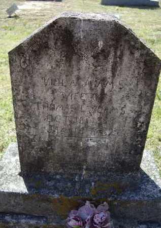 ADAMS, VIOLA - Lawrence County, Arkansas | VIOLA ADAMS - Arkansas Gravestone Photos