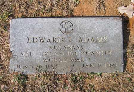 ADAMS (VETERAN WWI), EDWARD FRANKLIN - Lawrence County, Arkansas | EDWARD FRANKLIN ADAMS (VETERAN WWI) - Arkansas Gravestone Photos