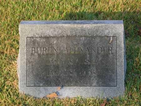 ALEXANDER, CALVIN BUREN - Lawrence County, Arkansas | CALVIN BUREN ALEXANDER - Arkansas Gravestone Photos