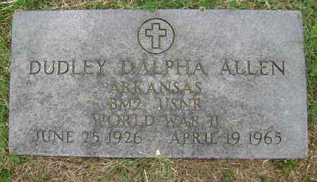 ALLEN (VETERAN WWII), DUDLEY DALPHA - Lawrence County, Arkansas | DUDLEY DALPHA ALLEN (VETERAN WWII) - Arkansas Gravestone Photos