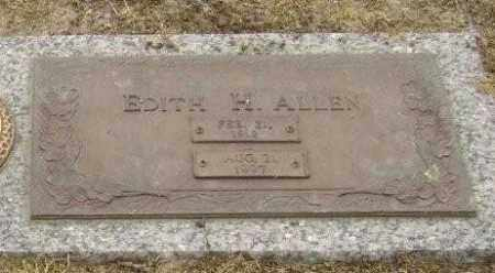 ALLEN, EDITH H. - Lawrence County, Arkansas | EDITH H. ALLEN - Arkansas Gravestone Photos