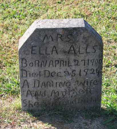 ALLS, ELLA - Lawrence County, Arkansas | ELLA ALLS - Arkansas Gravestone Photos