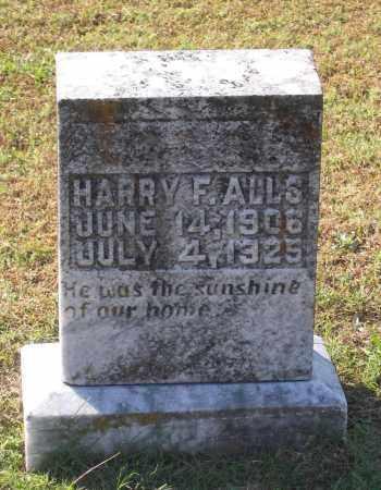 ALLS, HARRY F. - Lawrence County, Arkansas | HARRY F. ALLS - Arkansas Gravestone Photos