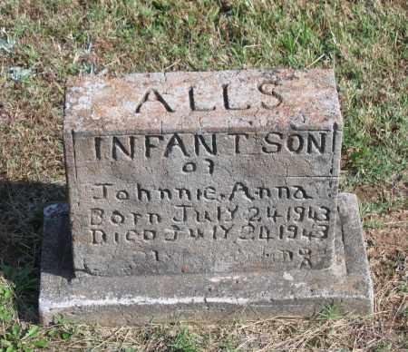 ALLS, INFANT SON - Lawrence County, Arkansas | INFANT SON ALLS - Arkansas Gravestone Photos