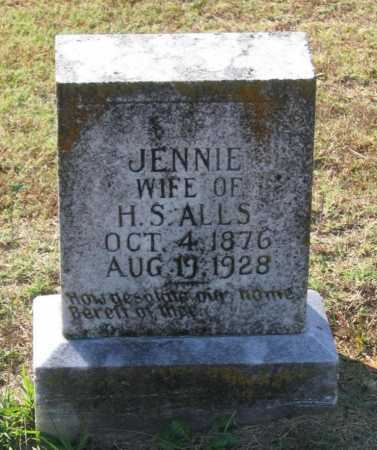 ALLS, JENNIE - Lawrence County, Arkansas | JENNIE ALLS - Arkansas Gravestone Photos
