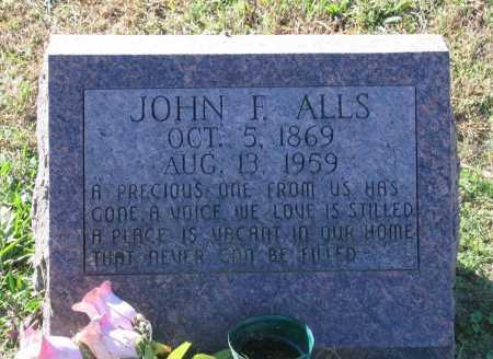 ALLS, JOHN FRANKLIN - Lawrence County, Arkansas | JOHN FRANKLIN ALLS - Arkansas Gravestone Photos