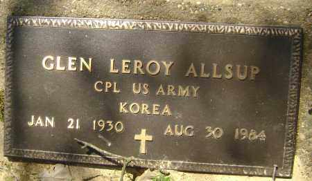 ALLSUP (VETERAN KOR), GLEN LEROY - Lawrence County, Arkansas | GLEN LEROY ALLSUP (VETERAN KOR) - Arkansas Gravestone Photos