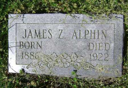 ALPHIN, JAMES Z. - Lawrence County, Arkansas   JAMES Z. ALPHIN - Arkansas Gravestone Photos