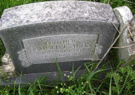 ALTIS, SAMUEL T. - Lawrence County, Arkansas | SAMUEL T. ALTIS - Arkansas Gravestone Photos