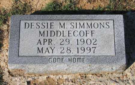 MIDDLECOFF, DESSIE MAE SIMMONS ANDERSON - Lawrence County, Arkansas | DESSIE MAE SIMMONS ANDERSON MIDDLECOFF - Arkansas Gravestone Photos