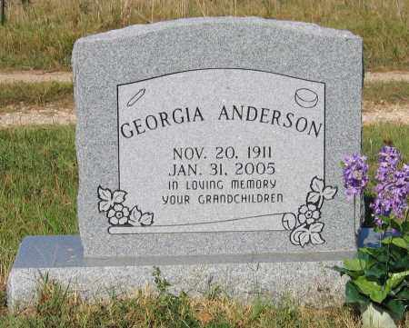 ANDERSON, GEORGIA MOLLY SNEAD AUSTIN - Lawrence County, Arkansas | GEORGIA MOLLY SNEAD AUSTIN ANDERSON - Arkansas Gravestone Photos