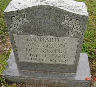 ANDERSON, LEONARD F. - Lawrence County, Arkansas | LEONARD F. ANDERSON - Arkansas Gravestone Photos