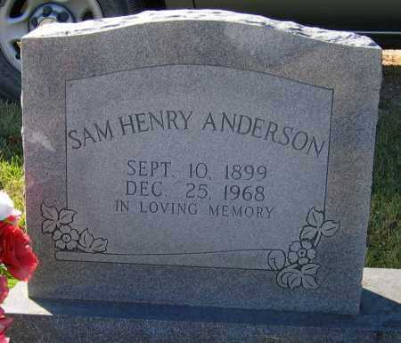 ANDERSON, SAMUEL HENRY - Lawrence County, Arkansas | SAMUEL HENRY ANDERSON - Arkansas Gravestone Photos