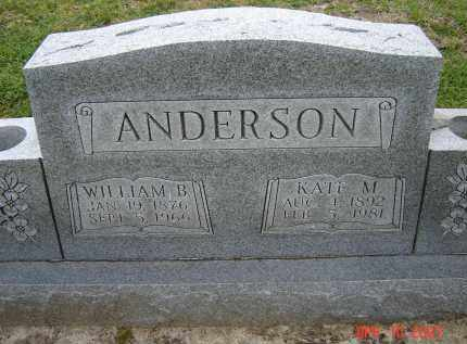 ANDERSON, WILLIAM B. - Lawrence County, Arkansas | WILLIAM B. ANDERSON - Arkansas Gravestone Photos