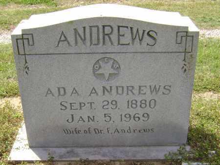 ANDREWS, ADA JOSEPHINE - Lawrence County, Arkansas | ADA JOSEPHINE ANDREWS - Arkansas Gravestone Photos