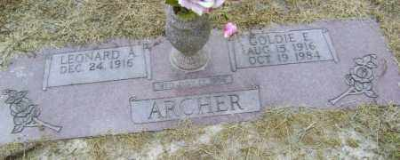 ARCHER, GOLDIE E. - Lawrence County, Arkansas | GOLDIE E. ARCHER - Arkansas Gravestone Photos