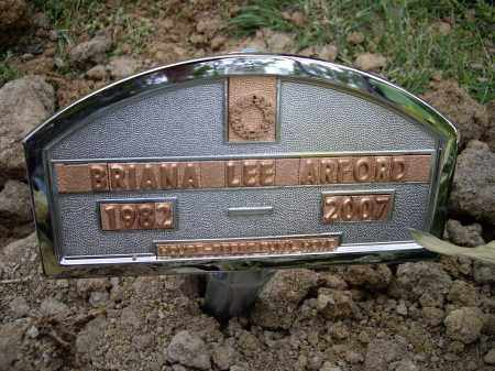 ARFORD, BRIANA LEE - Lawrence County, Arkansas | BRIANA LEE ARFORD - Arkansas Gravestone Photos