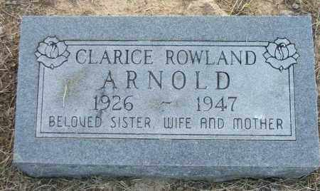 ROWLAND ARNOLD, CLARICE - Lawrence County, Arkansas | CLARICE ROWLAND ARNOLD - Arkansas Gravestone Photos