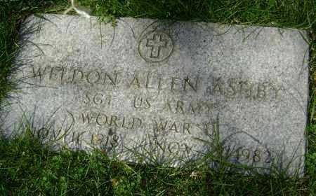 ASHBY (VETERAN WWII), WELDON ALLEN - Lawrence County, Arkansas | WELDON ALLEN ASHBY (VETERAN WWII) - Arkansas Gravestone Photos