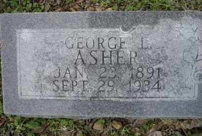 ASHER, GEORGE L. - Lawrence County, Arkansas | GEORGE L. ASHER - Arkansas Gravestone Photos