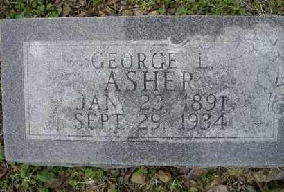 ASHER, GEORGE L. - Lawrence County, Arkansas | GEORGE L. ASHER - Arkansas Gravestone Photos