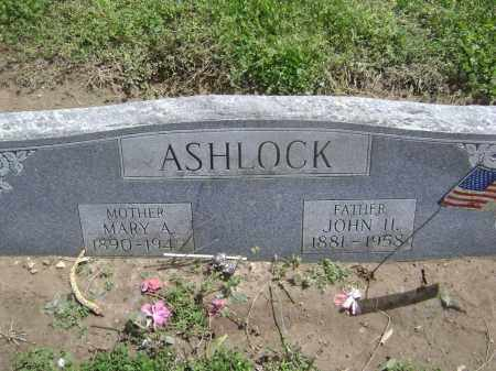 ASHLOCK, JOHN H. - Lawrence County, Arkansas | JOHN H. ASHLOCK - Arkansas Gravestone Photos