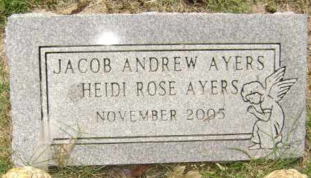 AYERS, JACOB ANDREW - Lawrence County, Arkansas | JACOB ANDREW AYERS - Arkansas Gravestone Photos