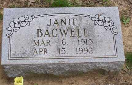 "BAGWELL, JAN ""JANIE"" - Lawrence County, Arkansas 