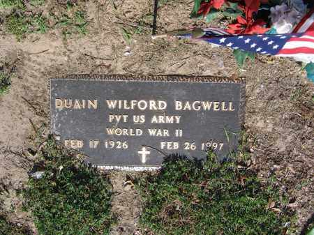 BAGWELL (VETERAN WWII), DUAIN WILFORD - Lawrence County, Arkansas | DUAIN WILFORD BAGWELL (VETERAN WWII) - Arkansas Gravestone Photos