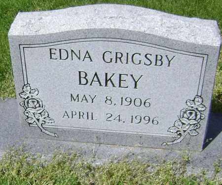 GRIGSBY BAKEY, EDNA - Lawrence County, Arkansas | EDNA GRIGSBY BAKEY - Arkansas Gravestone Photos