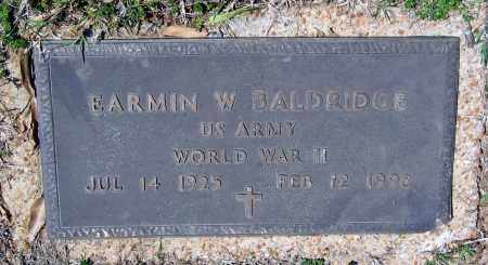 BALDRIDGE (VETERAN WWII), EARMIN W. - Lawrence County, Arkansas | EARMIN W. BALDRIDGE (VETERAN WWII) - Arkansas Gravestone Photos
