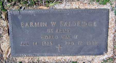 BALDRIDGE (VETERAN WWII), EARMIN WESLEY - Lawrence County, Arkansas | EARMIN WESLEY BALDRIDGE (VETERAN WWII) - Arkansas Gravestone Photos