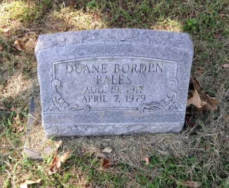 BALES, DUANE BORDEN - Lawrence County, Arkansas | DUANE BORDEN BALES - Arkansas Gravestone Photos