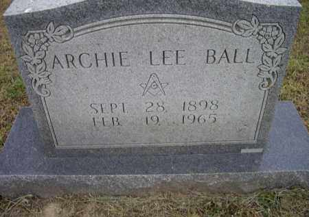 BALL, ARCHIE LEE - Lawrence County, Arkansas | ARCHIE LEE BALL - Arkansas Gravestone Photos