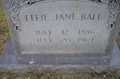 IVINS BALL, EFFIE JANE - Lawrence County, Arkansas | EFFIE JANE IVINS BALL - Arkansas Gravestone Photos