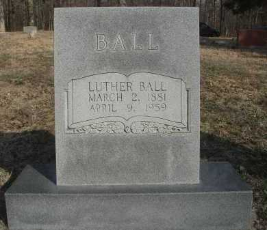 BALL, LUTHER - Lawrence County, Arkansas | LUTHER BALL - Arkansas Gravestone Photos