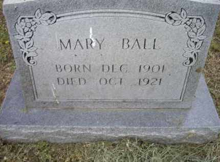 BALL, MARY - Lawrence County, Arkansas | MARY BALL - Arkansas Gravestone Photos