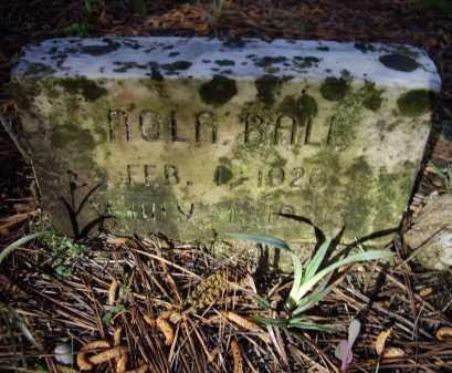 BALL, NOLA - Lawrence County, Arkansas   NOLA BALL - Arkansas Gravestone Photos