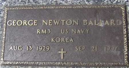 BALLARD  (VETERAN KOR), GEORGE NEWTON - Lawrence County, Arkansas | GEORGE NEWTON BALLARD  (VETERAN KOR) - Arkansas Gravestone Photos