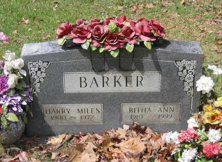 BARKER, HARRY MILES - Lawrence County, Arkansas | HARRY MILES BARKER - Arkansas Gravestone Photos