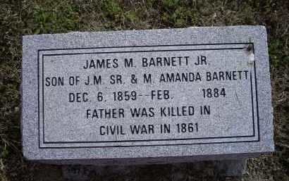 BARNETT, JR., JAMES MELTON - Lawrence County, Arkansas | JAMES MELTON BARNETT, JR. - Arkansas Gravestone Photos