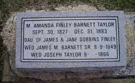TAYLOR, MARGARET AMANDA FINLEY BARNETT - Lawrence County, Arkansas | MARGARET AMANDA FINLEY BARNETT TAYLOR - Arkansas Gravestone Photos