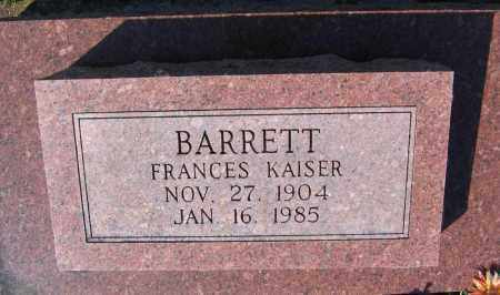 BARRETT, FRANCES - Lawrence County, Arkansas | FRANCES BARRETT - Arkansas Gravestone Photos