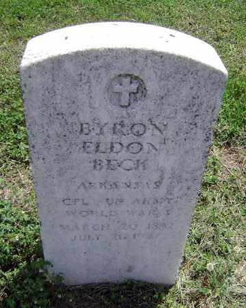 BECK (VETERAN WWI), BYRON ELDON - Lawrence County, Arkansas | BYRON ELDON BECK (VETERAN WWI) - Arkansas Gravestone Photos